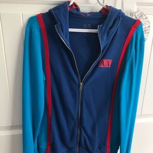 Men's Armani Exchange colorful zip up sweater